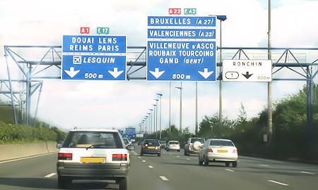 Venir au Grand Hôtel Lille par la route, l'autoroute.